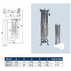 Корпус SUS 304-Bona (фильтр мешочного типа) 45 м³/ч, фото