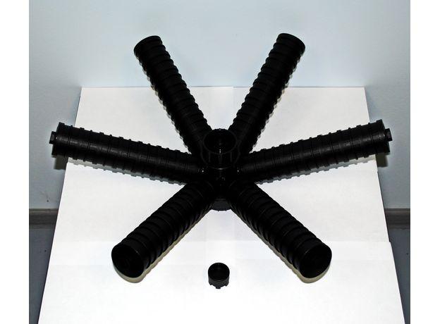 """Нижний дистрибьютор под в/п трубу 48.3 мм (MG), 24"""", лучи на резьбе, щель 0,2 мм, фото"""
