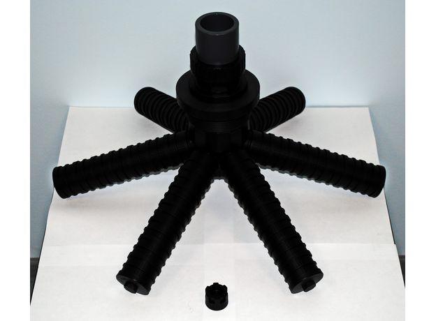 """Нижний дистрибьютор с наружным выходом 63 мм, 24"""", фото"""
