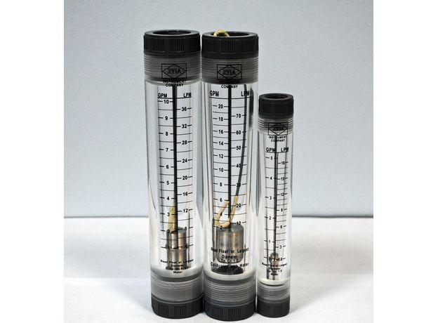 "Ротаметр проточный 0,5-5 gpm (резьба 1/2"", 0,108- 1,08 м3/ч), фото , изображение 2"