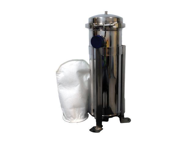 """Мешочный фильтр BFL-1 М, вход/выход 2"""" BSP (внутреняя), 15 м3/ч,  нерж. сталь SUS304 матовый, фото"""