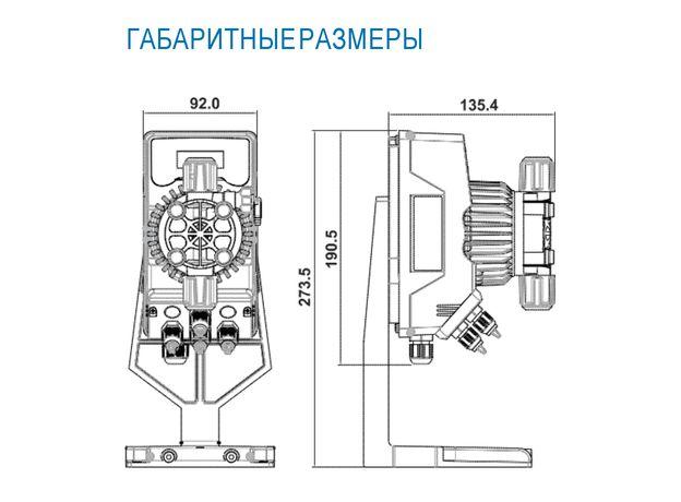 Дозирующий насос SEKO KOMPACT DPT200 с датчиком уровня, фото , изображение 2