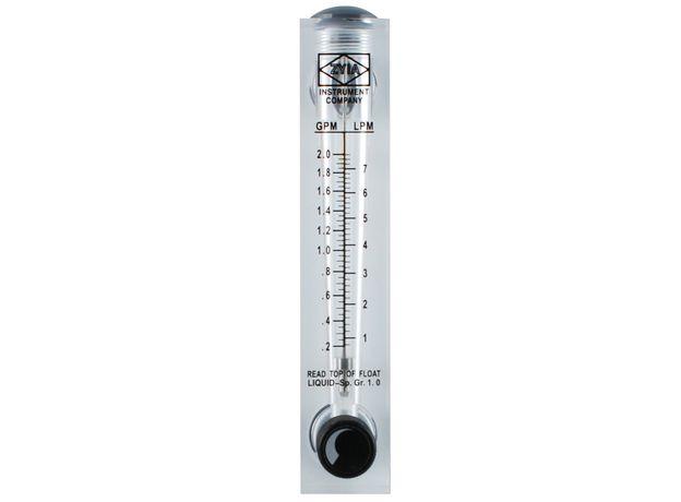 """Ротаметр панельный 0,5-5 gpm (резьба 1/2"""", 0,11- 1,13 м3/ч),с регулировочным вентилем, фото"""
