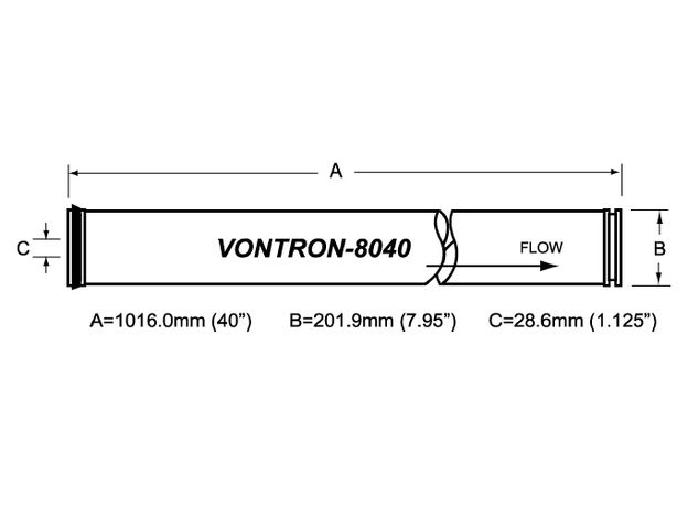Мембрана ULP21-8040 Vontron, фото , изображение 2