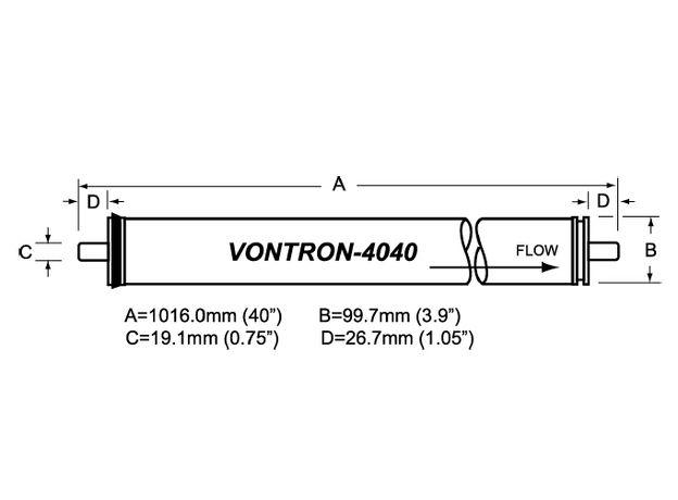 Мембрана ULP21-4040 Vontron, фото , изображение 2