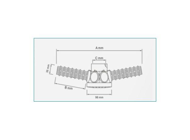 """Дренажно-распределительная система для корпуса 24"""" (лучи), Ду 50 или 1,5"""", фото , изображение 2"""