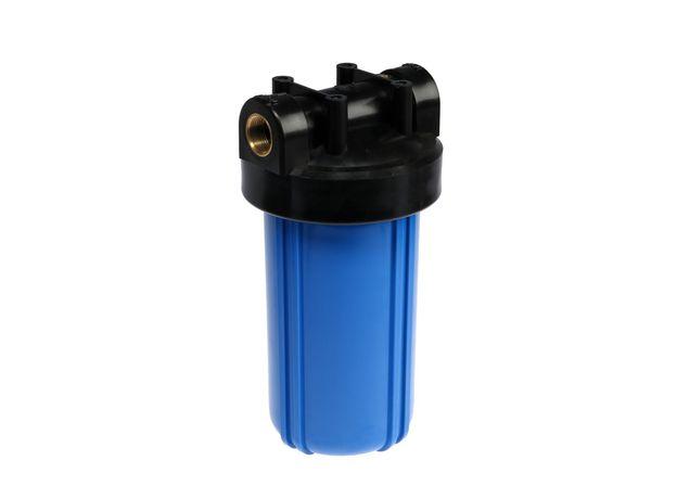 "Корпус ВВ-10 (1"") с ключом, кронштейном цвет-синий, фото"